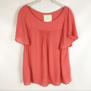 ANTHROPOLOGIE   maeve flutter sleeve blouse